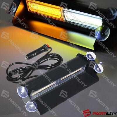 Cob White Amber Light Emergency Car Vehicle Warning Strobe Flashing Led