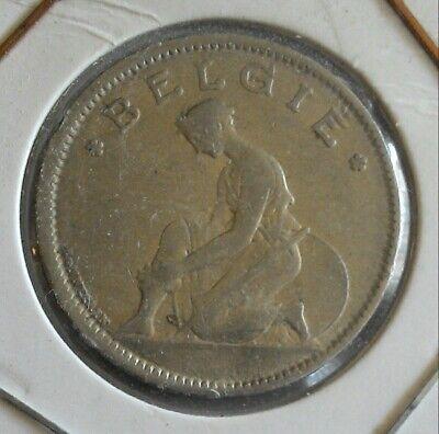 monnaie munt 1 franc 1935 légende flamande Belgique Belgie Leopold  III