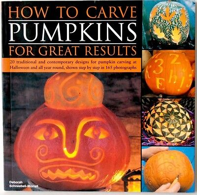 Halloween craft book How to Carve Pumpkins for Great Results 20 designs patterns