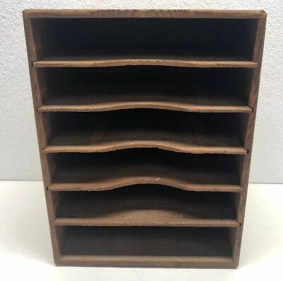 Kingsley Hot Foil Stamping Machine Wooden Type 6 Slot Storage Cabinet