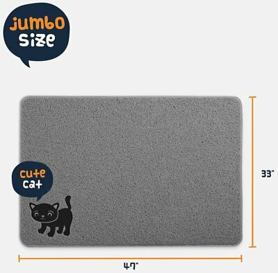 BPA Free Premium Cat Litter Mat - Extra Large - Best Quality Kitty