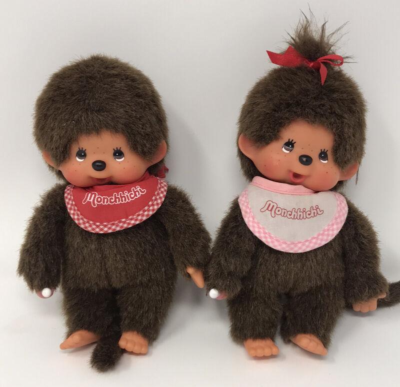 Vintage Girl & Boy Sekiguchi Monchhichi Stuffed Animal