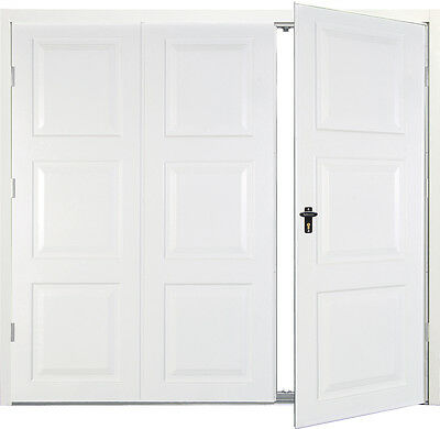 White side hinged garage doors Georgian  7070 New