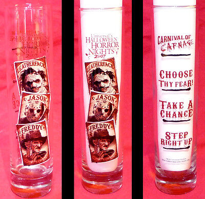 Universal Studios Halloween Horror Nights 2007 Shooter shot glass Freddy Jason &](Halloween Horror Nights Freddy Jason)