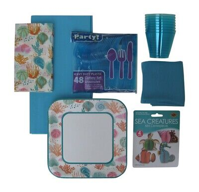 Ocean Theme, Summer Party Bundle with Complete Supplies and Decorations - Ocean Theme Decorations
