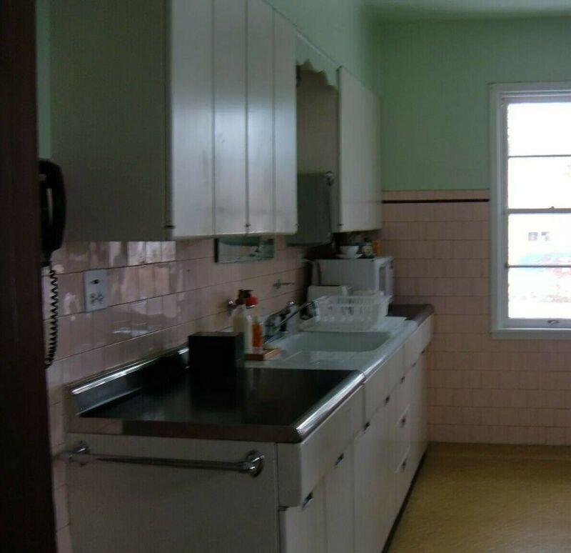 Vintage White Metal Kitchen Cabinets