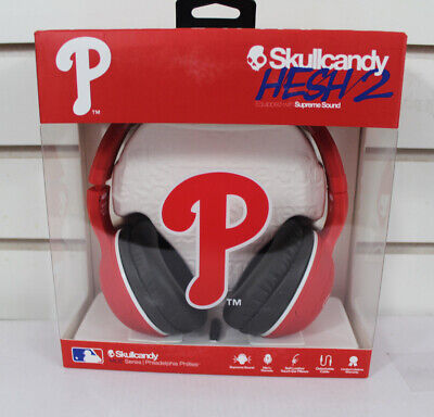New Skullcandy Hesh 2.0 Mic'd Headphones Philadelphia Phillies MLB