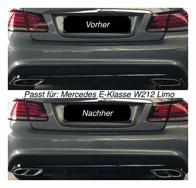 Top Chrom Edelstahl Auspuffblende Für Mercedes E-Klasse W212 Limo (205