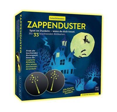 Zappenduster Leuchtmemo Memo Memory Halloween-Party Kinderspiel Kindergeschenk