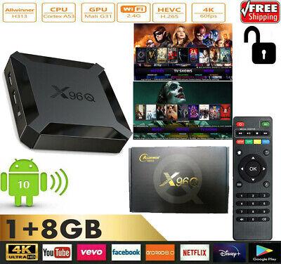 X96Q mini Smart Android 10 TV Box H313 Quad Core H.265 1G 8G
