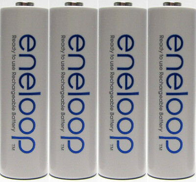 Panasonic eneloop 4 Pack AA NiMH Rechargeable Batteries