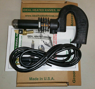 IDEAL 125 TIRE REGROOVER 220/240 Volt Machine Hot Knife W/12 #4 RD BLADES