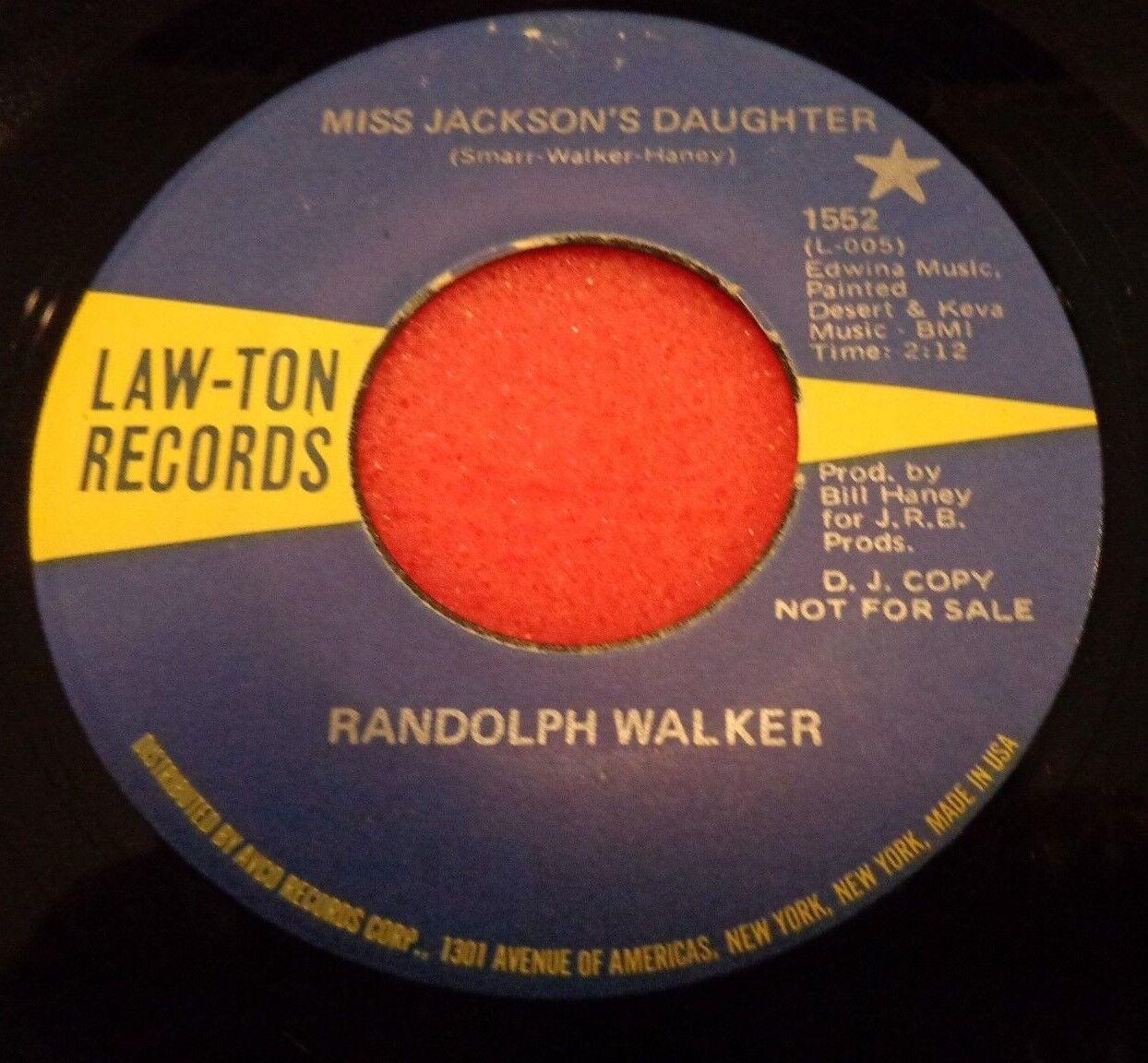 039..RARE Mortal RANDOLPH WALKER PROMO 45...MISS JACKSON'S DAUGHTER ...LAWTON 1552