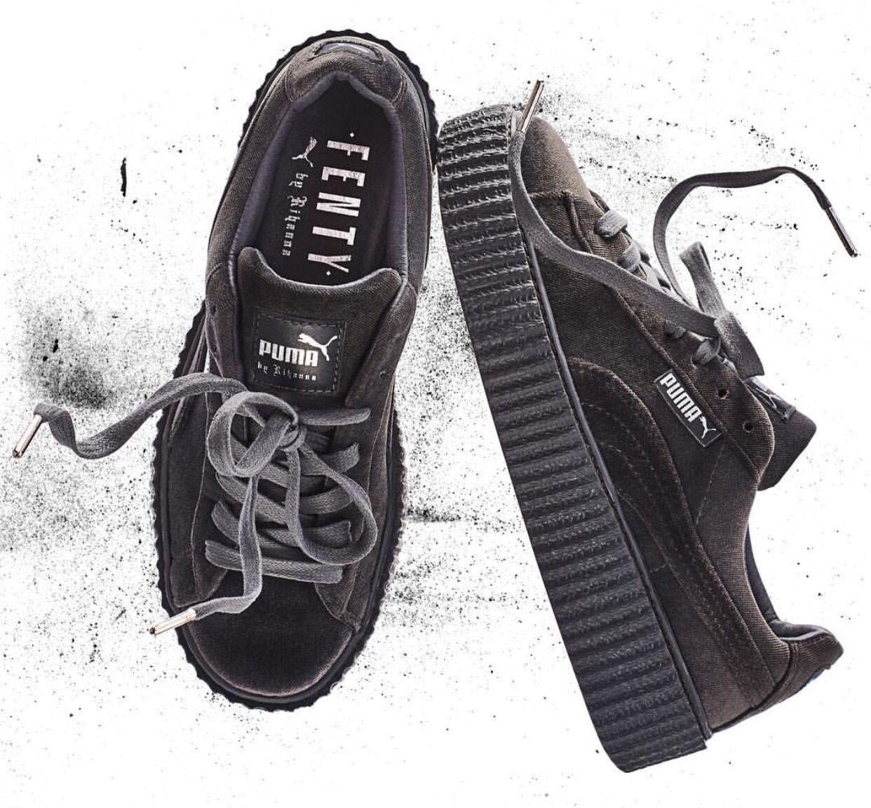 best sneakers a7474 e8c89 Купить Rihanna Fenty x Puma Creepers Velvet Grey Size на ...