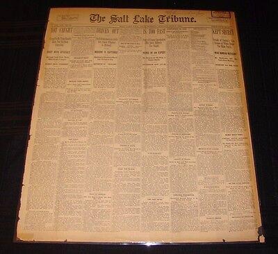 JUNE 6 1899 ANTIQUE VINTAGE THE SALT LAKE TRIBUNE UTAH NEWSPAPER FREE SHIPPING