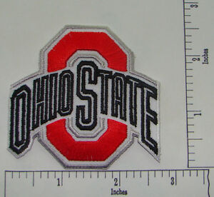 Ohio State Buckeye Embroidered Iron On Patch 2.6