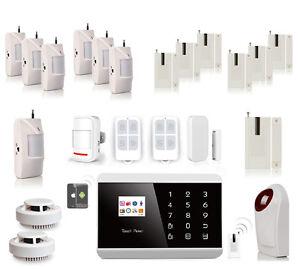 Kit alarme maison avec d tecteurs anti vol sans fil adsl gsm app ios android - Vol sans effraction maison ...