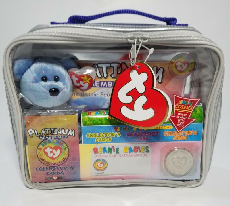 1999 Ty Beanie Babies Platinum Membership Edition Club Kit Sealed with coin