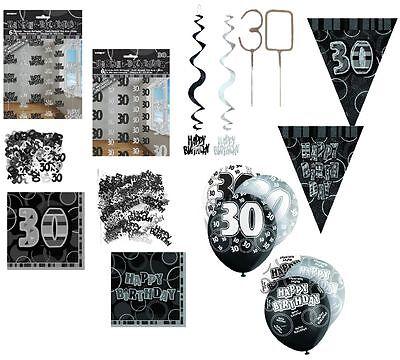 Dekoration 30. Geburtstag schwarz/silber Party Dekoration 30 Geburstag Konfetti