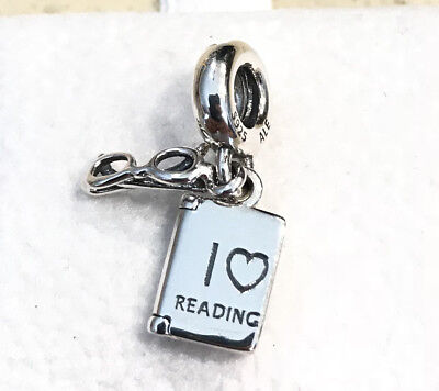 Pandora I Love Reading, Dangle Charm #791984 +Gift Packaging +Pouch](Love Reading)