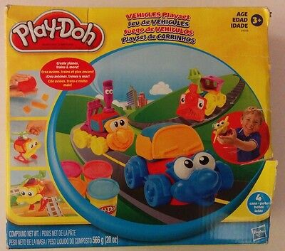 Play-Doh Vehicles Playset COMPLETE Hasbro Planes Trains Car Helicopter 24358