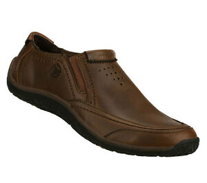 skechers shoes 63345 new brown slip on comfort casual