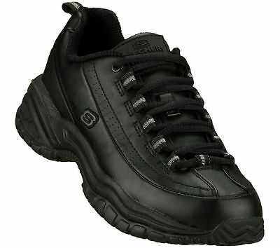 Skechers 76033 Women's Work Shoes Soft Stride-Softie Slip Resistant Black