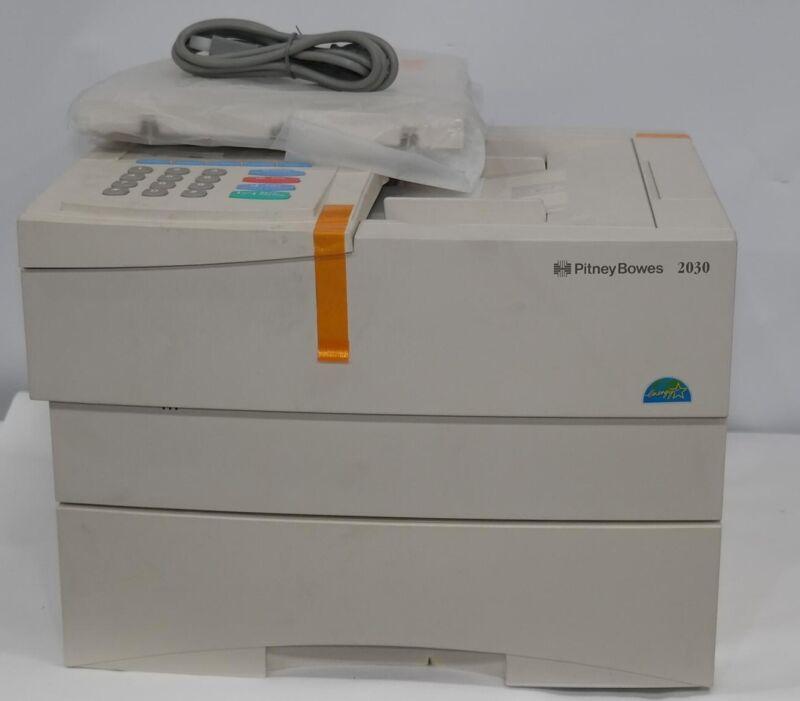 NEW PITNEY BOWES 2030 PLAIN PAPER LASER FAX MACHINE COPIER W/ ACCESSORIES