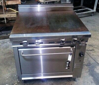 Montague Heavy Duty Gas Range Propane- Standard Oven Even Heat Top Plates