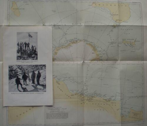 1929 - ANTARCTIC - B.A.N.Z. EXPEDITION DOUGLAS MAWSON POLAR EXPLORATION + MAP