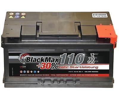 Autobatterie 12 V 110 Ah 950A/EN BlackMax KFZ PKW Batterie ers. 95Ah 100Ah 105Ah online kaufen
