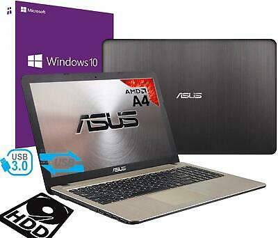 "Notebook Asus Vivobook Portatile15.6"" AMD A4 2.60Ghz 8Gb 500GB Hdmi Win 10 PRO"