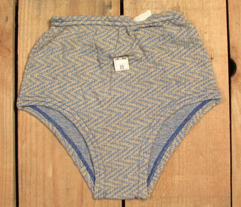Vintage 1940s Boys Swimsuit Zig-Zag Pattern Nylon Knit Bathing Suit New NOS Sz.8