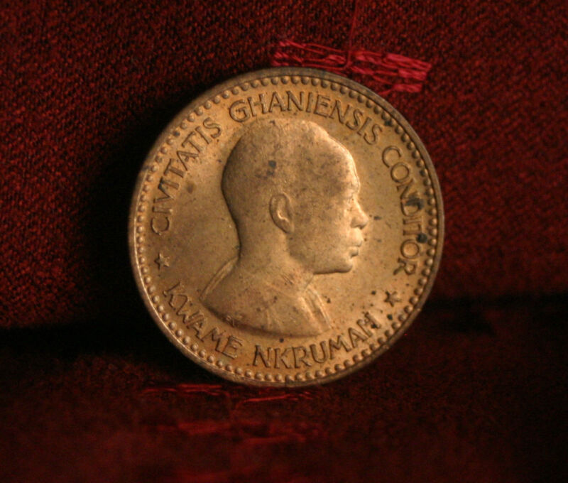 Ghana 1/2 Penny 1958 Unc World Coin KM1 Africa Star uncirculated