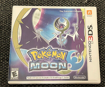 Pokemon Moon -  (Nintendo 3DS  2016) Authentic w/ Case TESTED & WORKING