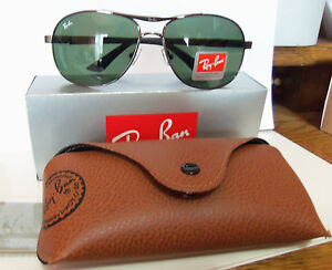 ray ban 3015 wlce  New Ray Ban Aviator Sunglasses RB3327 66 14-128 made In Italy