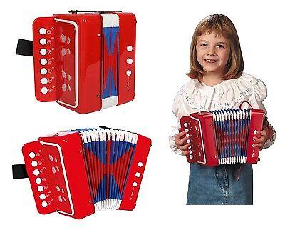 Fisarmonica rossa per bambini, cm 19 x 16,5 x 10