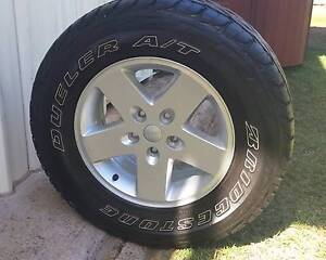 """JK WRANGLER JEEP 2007 - 2013 17"""" WHEEL AND TYRE 4x4 4wd offroad Kallangur Pine Rivers Area Preview"""
