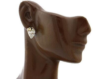 Grape Cluster Heart Shaped Stud Sim Diamonds Stud 14k Gold Earrings Heart Shaped Diamond Cluster Earrings