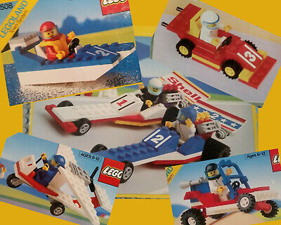 Lego Race Lot Sand Racer 6528 Race Car 1612 Boat 6508 Dragsters 6591 Plane 6529