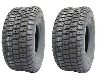 2-Pack, Deli 15 x 6.00 - 6, Turf Master Tread, 4 Ply, Tubeless, Lawn mower tires