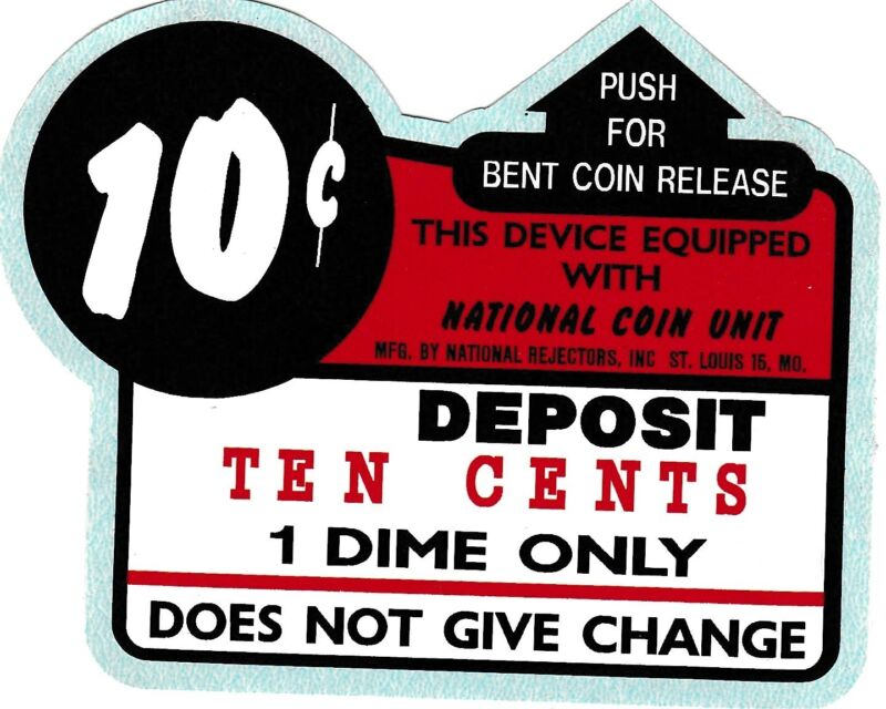 10 CENT DECAL OR 25 CENT COIN ENTRY , KIDDIE RIDE, COIN OPERATED MACHINE.