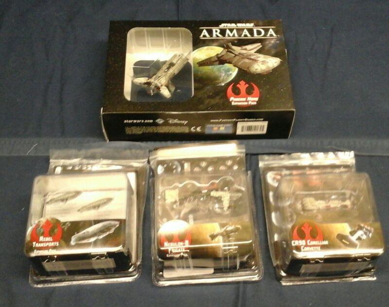 Star Wars Armada Rebel ships lot Fantasy flight games