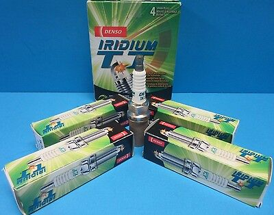 Set of 4 Spark Plugs Iridium TT Long Life DENSO Twin Tip 4711 Made in (Amg Denso Spark Plugs)