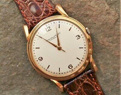 IWC International Watch Company 18K Rose Gold Manual Wind 36 or 37 mm From 1952