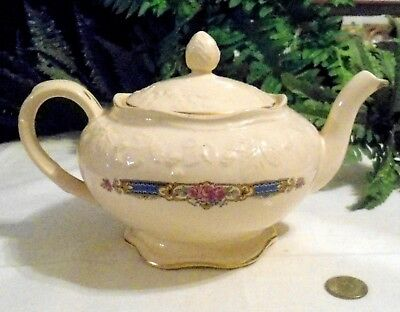 ANTIQUE EARLY ENGLISH TRANSFERWARE RARE ENGLISH BRAMBLEBERRY PATTERN TEAPOT ORIG