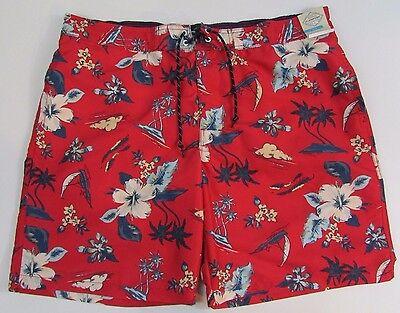 St Johns Bay Swim Board Shorts Mens Size XXL nwt Tropical Red