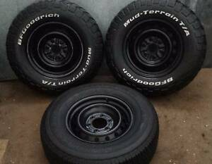 """3 X 16"""" M/T 4X4 WHEELS AND TIRES BFGOODRICH MUD TYRES M/T TRITON Kallangur Pine Rivers Area Preview"""