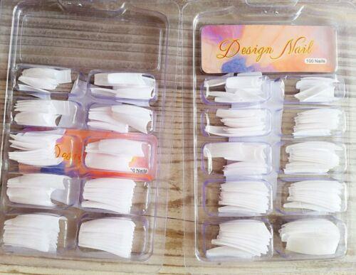 2x 100 FULL COVER künstliche Fingernägel Kunstnägel weiß nailart Gel nail tips