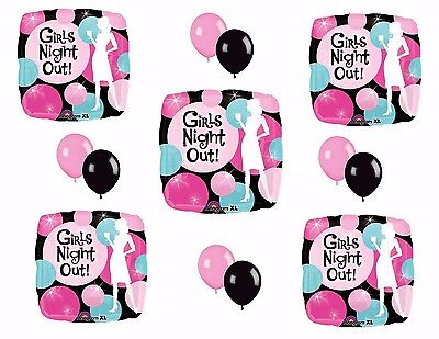 Girls Night Out Decorations (GIRLS NIGHT OUT Balloons Bachelorette Party Decoration Party Bus Bar Hens)